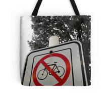 No Bicycles Tote Bag