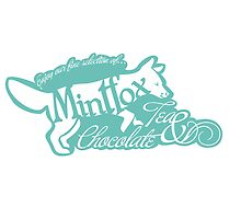 Mintfox Poster Tea and Chocolate (mint white version) by Bettina-Jeannette  Bierwirth