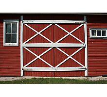 Red Barn Door Photographic Print