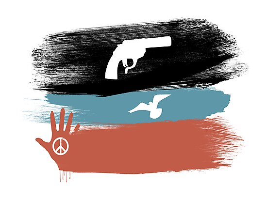 Guns and Peace - T-Shirt by Denis Marsili - DDTK