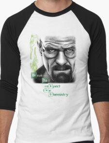 Walter White - Respect the Chemistry  Men's Baseball ¾ T-Shirt