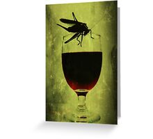 Cricket and Wine Greeting Card