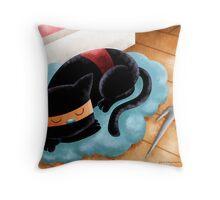 Ninja Cat Nap Throw Pillow