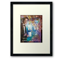 11th Doctor Who Matt Smith Framed Print