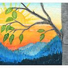 ACEO Beech Leaves Goodbye To The Sun by Cleave