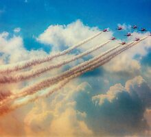Red Arrows Smoke The Skies by Chris Lord