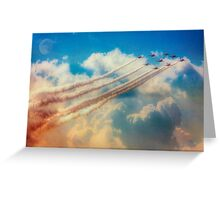 Red Arrows Smoke The Skies Greeting Card