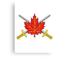 Canadian Army Canvas Print