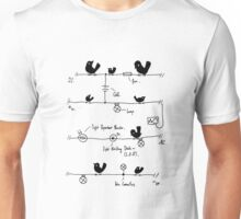 Circuitry - Birds (Blue) Unisex T-Shirt