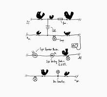Circuitry - Birds (Blue) Unisex T-Shirt