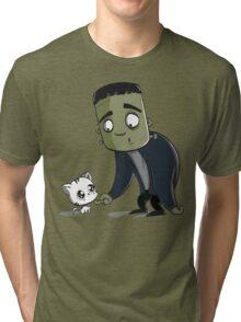 Frankie Loves Kitty  Tri-blend T-Shirt