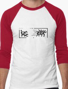 Zombies hate fast food Men's Baseball ¾ T-Shirt