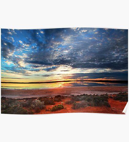 Salt Lake Sunset Poster