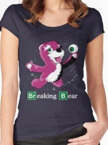 Breaking Bear Text Women's Fitted Scoop T-Shirt