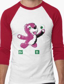 Breaking Bear Text Men's Baseball ¾ T-Shirt