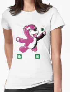 Breaking Bear Text Womens Fitted T-Shirt