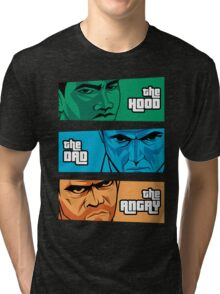 the Hood, the Dad & the Angry Tri-blend T-Shirt