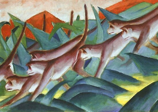 Franz Marc - Monkey Frieze by William Martin