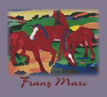 Franz Marc - Red Horses Kids Clothes