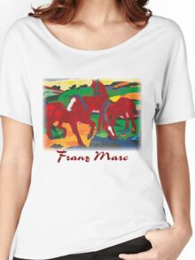 Franz Marc - Red Horses Women's Relaxed Fit T-Shirt