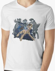 Doctor Whooves and His Angels Mens V-Neck T-Shirt