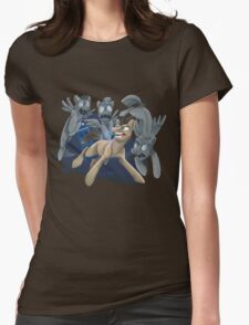Doctor Whooves and His Angels Womens Fitted T-Shirt