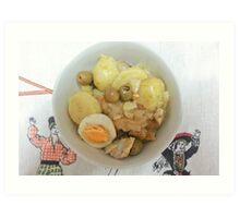 Portuguese Salt Cod Stew Art Print