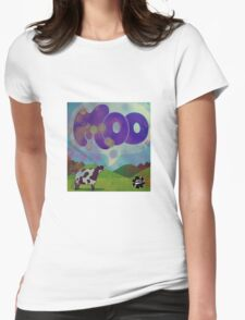 Moo Womens Fitted T-Shirt