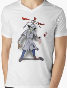 Inspector Zombie Mens V-Neck T-Shirt