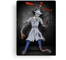 Inspector Zombie Canvas Print