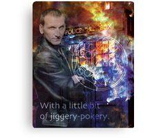 9th Doctor Who Eccelston Canvas Print