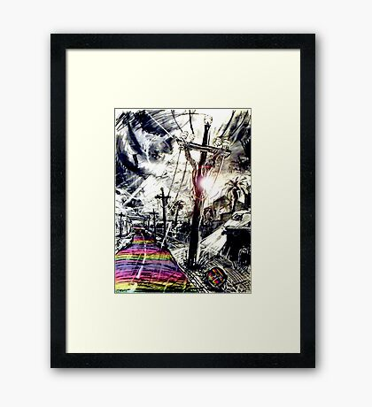 Rainbow Christ Framed Print