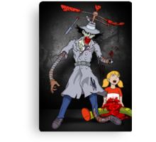 Inspector Zombie (with Penny) Canvas Print