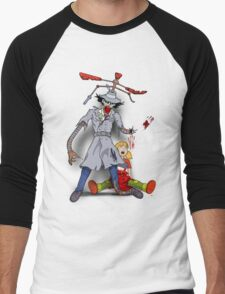 Inspector Zombie (with Penny) Men's Baseball ¾ T-Shirt