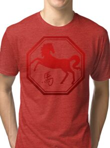 Chinese Zodiac Year of The Horse Symbol Tri-blend T-Shirt