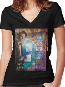 11th Doctor Who Matt Smith Women's Fitted V-Neck T-Shirt