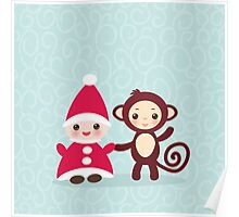 gnome and monkey  Poster