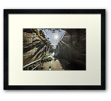 ...colors show nothing... Framed Print
