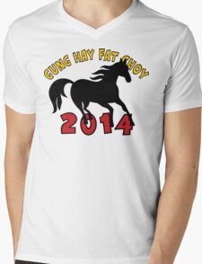 Happy Chinese New Year 2014 T-Shirts Gifts Mens V-Neck T-Shirt