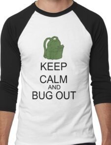 Keep Calm And Bug Out Men's Baseball ¾ T-Shirt