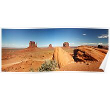 Monuments in Sand - Monument Valley, Utah, USA Poster