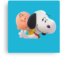 charlie brown and snoopy the peanuts movie 2 Canvas Print