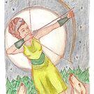 Goddess - Artemis by Paola Suarez