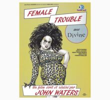 John Waters' 'Female Trouble' Vintage Movie Poster T-Shirt by TrueLoveTees