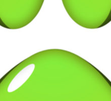 Ooh, shiny! Paw Print - Green Sticker