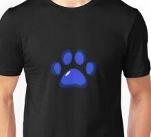 Ooh, shiny! Paw Print - Blue Unisex T-Shirt