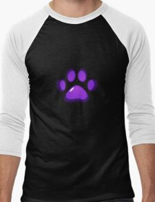 Ooh, shiny! Paw Print - Purple Men's Baseball ¾ T-Shirt