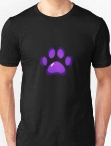 Ooh, shiny! Paw Print - Purple T-Shirt