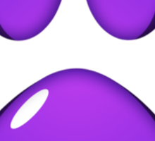 Ooh, shiny! Paw Print - Purple Sticker