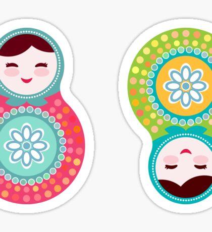 dolls matryoshka Sticker